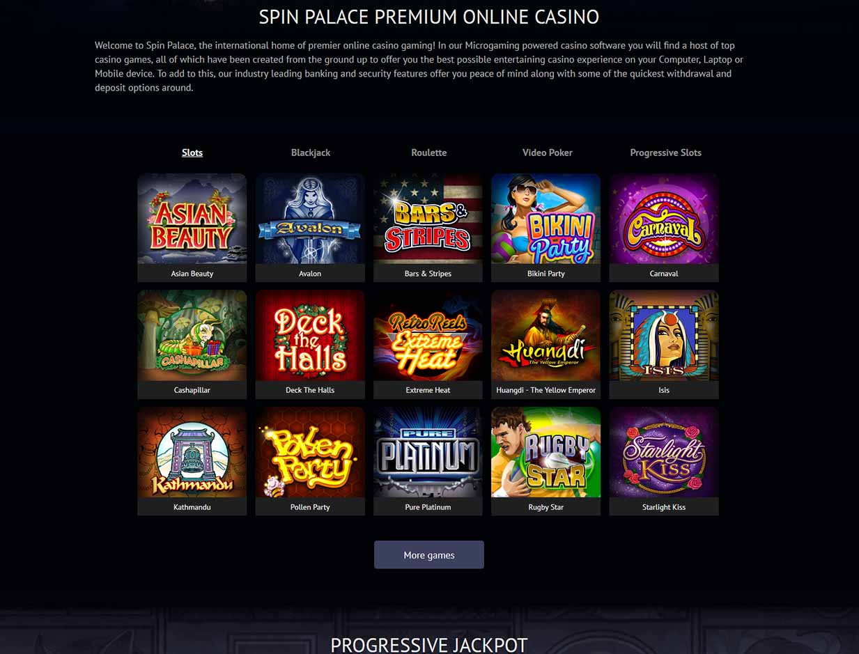 Spin palace casino android app